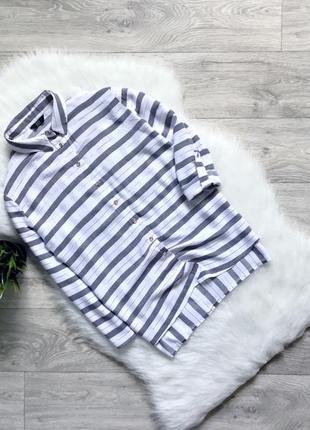 Рубашка свободного кроя с люрексовой нитью