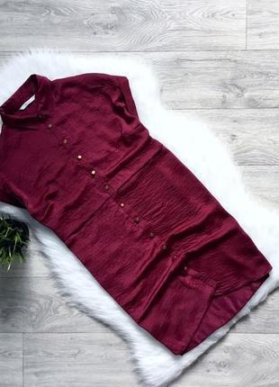 Платье летнее цвета марсала