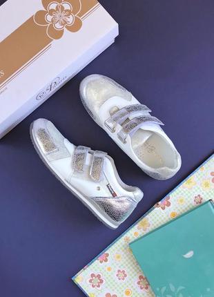 Обалденные кожаные кроссовки для девочки-тинейджера или хрупкой девушки, 35 размер