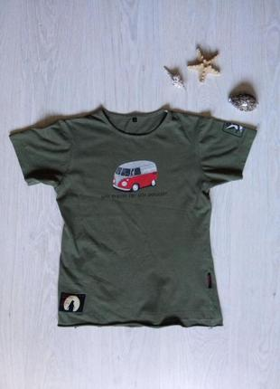 Футболка унисекс для путешествий )) футболка защитного цвета