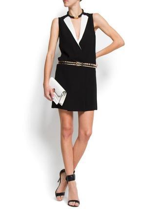 Стильное чёрное платье mango