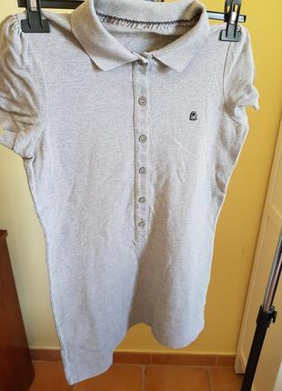 Длинная котоновая футболка поло benetton