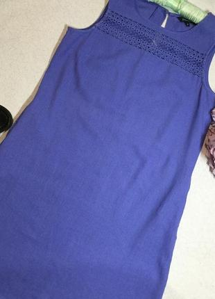 Платье трапеция лён  papaya 10 размер