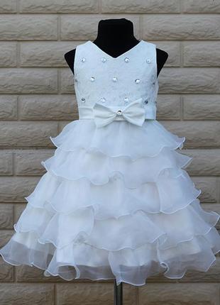 Размер 100-150 детское нарядное пышное платье камни для девочки2