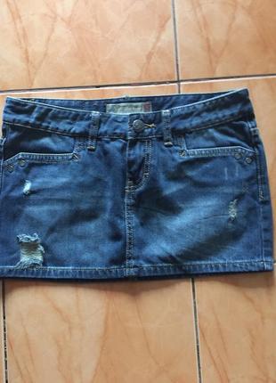 Мини джинсовая юбка fishbone