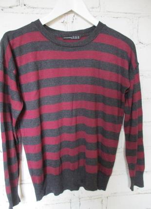 Пуловер в полоску/тельняшка/джемпер/52% вискоза/кофта/s-m