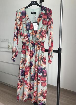 Шикарное новое женственное платье в 🌺 цветы mohito