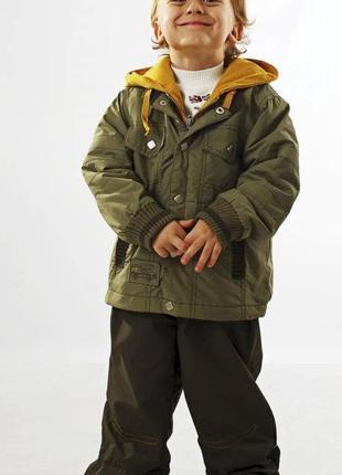 Ветров на флисе и брючки , деми костюм для мальчикаkiko кико 86-104