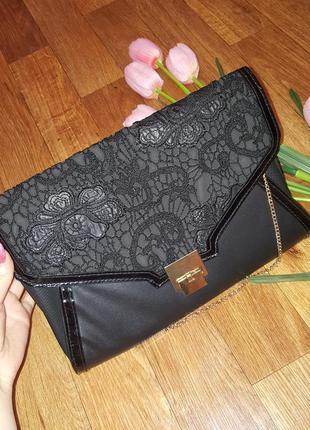 Продам красивую сумочку клатч с кружевом