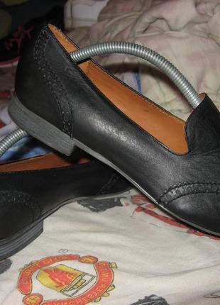 Туфли лоферы оксфорды hotter полностью кожа размер 39 по стельке 25.5 см