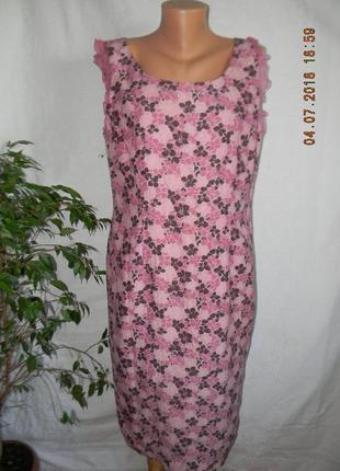 Новое платье лен с шелком