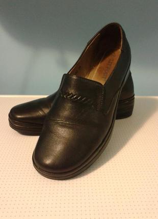 Женские закрытые кожаные туфли (лоферы) lit foot