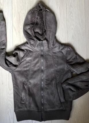 Тёплая куртка из искусственного замша