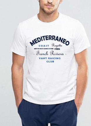 Mediterraneo футболка белая, 100% коттон