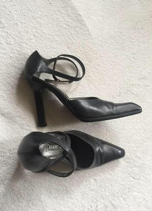 Дизайнерские люксовые кожаные туфли cesarean paciotti