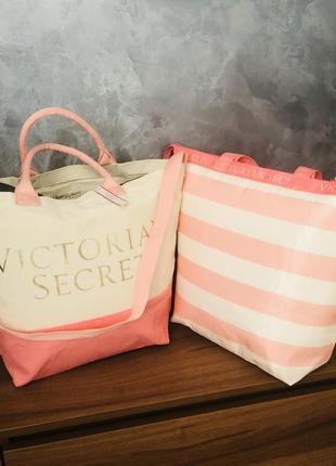 Комплект сумок сумка пляжная+термосумка виктория сикрет оригинал