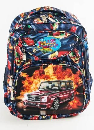 Школьный рюкзак для мальчика с ортопедической спинкой - синий - 31-y020