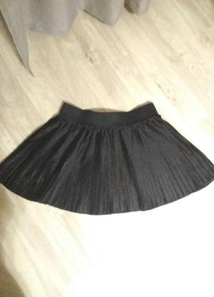 Короткая юбка плиссе в складку