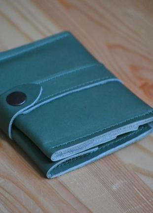 Женский кошелек на застежке из натуральной кожи