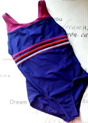 Фиолетовый цельный купальник
