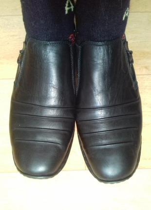 Мокасины (туфли) кожаные rieker. 24. 5 см
