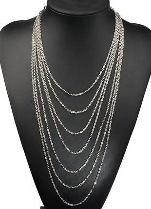 Многослойное колье, ожерелье из цепочек