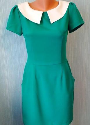 Зеленое женское льняное платье от salkim, р. 42.