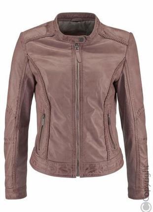 Шикарная фирменная кожаная куртка tamaris размер xl