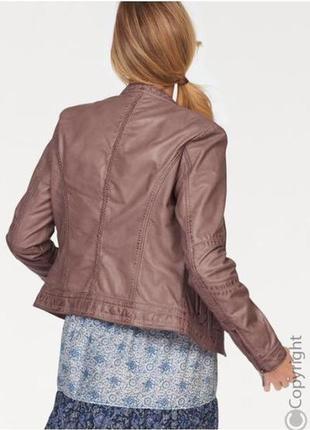Шикарная фирменная кожаная куртка tamaris размер xl3