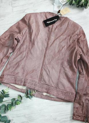 Шикарная фирменная кожаная куртка tamaris размер xl5