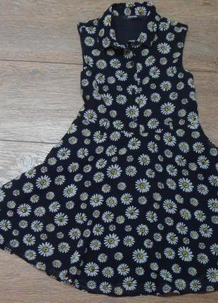 Красивое шифоновое платье с ромашками george по бирке 6-7 лет