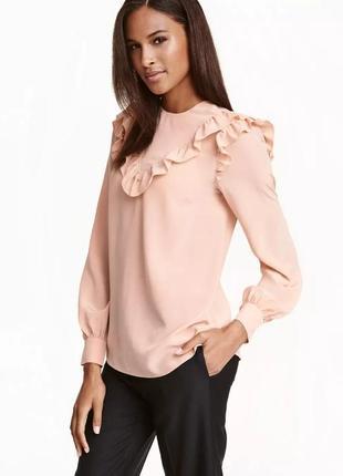 H&m шелковая блузка, размер 36/38