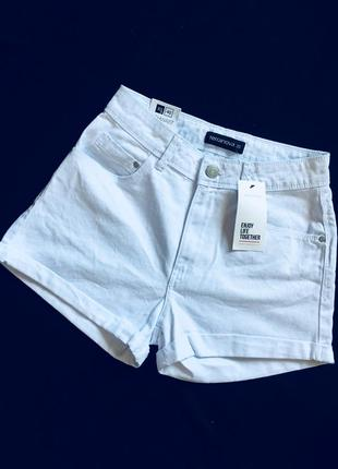 Шорты белоснежные джинс