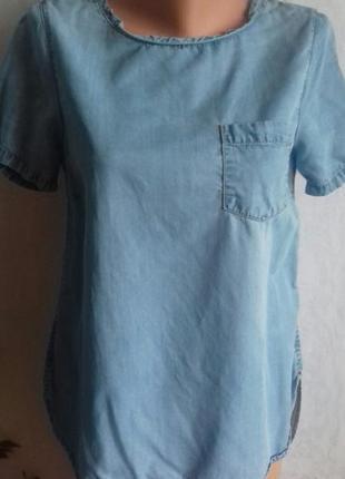 Легкая джинсовая блуза