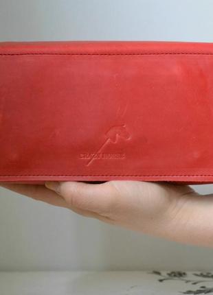 Женский клатч- кошелек из натуральной кожи