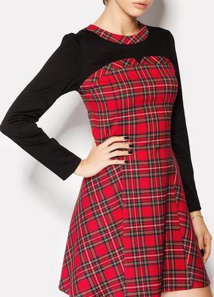 Красивое качественное платье в шотландскую клетку cardo