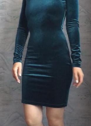 Изумрудное бархатное платье kira plastinina