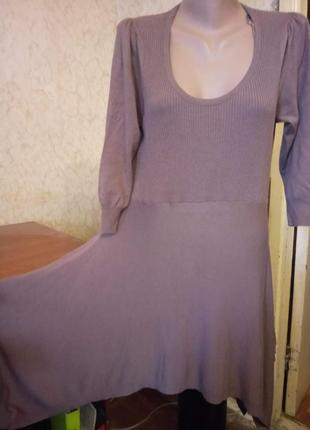 Бомбезное трендовое вязанное демисезонное  платье из тонкого трикотажа.18