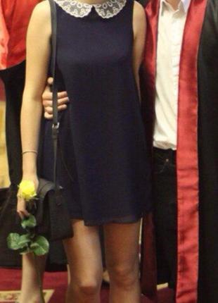 Сукня new look, синее платье с воротничком
