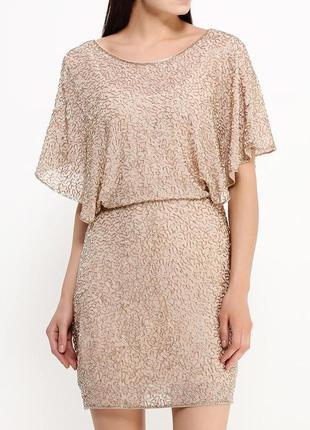 Платье вышитое бисером люкс