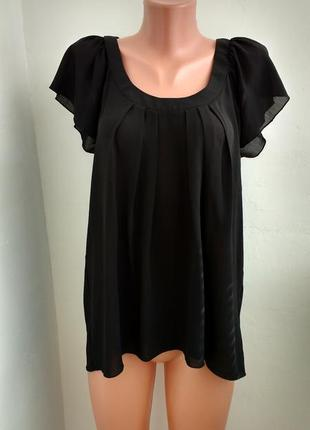 Р l-xl черная базовая блуза !