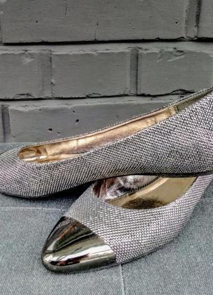 Балетки с блестящими носочками