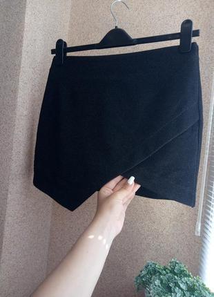 Асимметричная юбка с метализированной нитью topshop