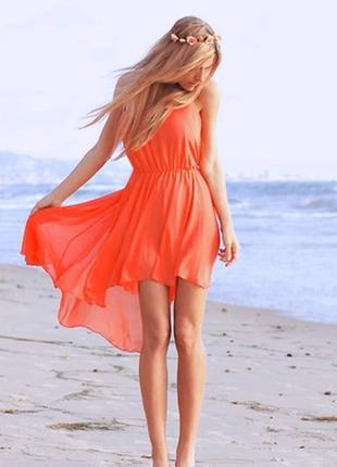 Новое красивенное модное шифоновое платье