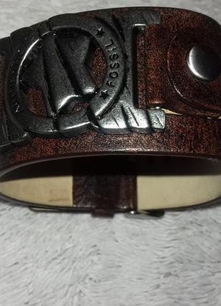 Мужской браслет из натуральной кожи от fossil
