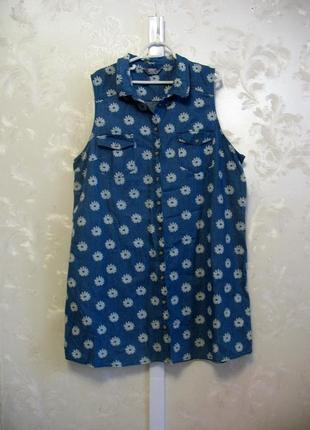 Легкое джинсовое платье-рубашка dorothy perkins большой размер