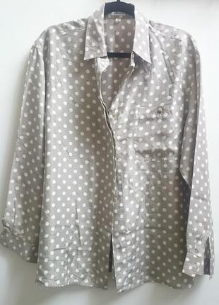 Блуза из натурального шелка в горошек