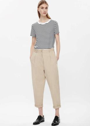 Cos  брендовые летние брюки чиносы c высокой талией/// много брюк разного стиля///