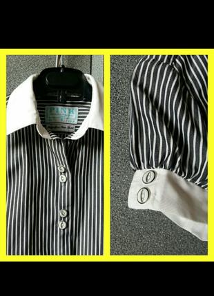 Рубашка -блуза, классическая полоска