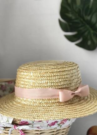Шляпа соломенное канотье